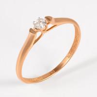Золотое кольцо с бриллиантом ЮИК113-2090