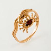 Золотое кольцо с гранатом НЮ102000193091гр