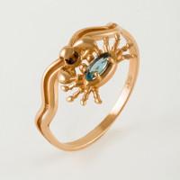 Золотое кольцо с топазом НЮ102000193091тл