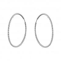 Серебряные серьги конго ДИ94140034
