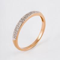 Золотое кольцо с бриллиантами ДИ1010359