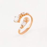 Золотое кольцо с фианитами 3ВК132-880