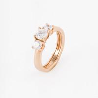 Золотое кольцо с фианитами 2БКЗ5К-01-0512-01