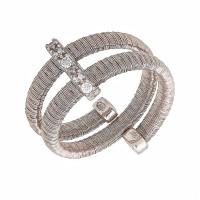 Серебряное кольцо с кубическими цирконами (фианитом) ЮЕ1370001004311