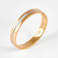 Золотое кольцо обручальное с бриллиантами ИМТ0134-120