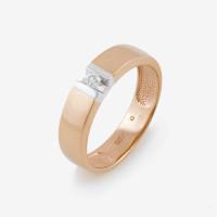 Золотое кольцо обручальное с бриллиантом ИМТ1020-120
