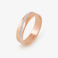 Золотое кольцо обручальное с бриллиантами ИМТ0013-120