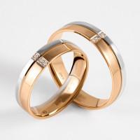 Золотое кольцо обручальное с бриллиантами ИМТ0388-120