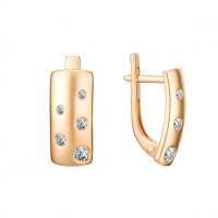 Золотые серьги с фианитами 3ВС130-1053