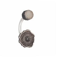 Серебряные серьги полупара ИЬ9245201