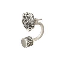 Серебряные серьги полупара ИЬ9255210