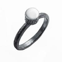 Серебряное кольцо ИЬ9231401 без вставок