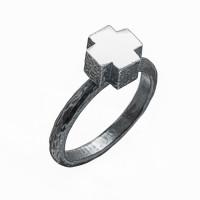 Серебряное кольцо ИЬ923145 без вставок