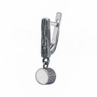 Серебряные серьги полупара ИЬ9235401 без вставок камней