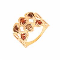 Золотое кольцо с ситалом и раухтопазами ДП312721