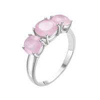 Серебряное кольцо с кварцем плавленым РОК-3443РС121