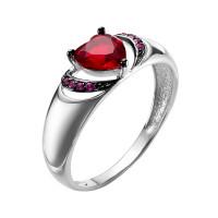 Серебряное кольцо с фианитами и кварцем плавленым РОК-7195Р204