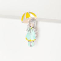 Серебряная брошь с эмалью РОбр-052э-3