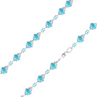 Серебряный браслет с кварцем плавленым РОБРС034Р-102