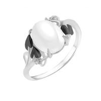 Серебряное кольцо с агатами и фианитами РОК-3486РК64100