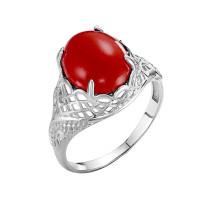 Серебряное кольцо с кораллами РОК-3560РК654