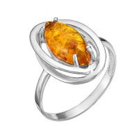 Серебряное кольцо с янтарем РОКП4Р640
