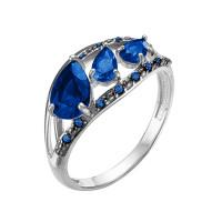 Серебряное кольцо с кварцем плавленым РОК-3540РС108