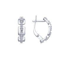 Серебряные серьги с фианитами ДИ94022827