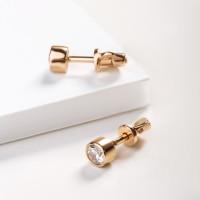 Золотые серьги гвоздики с фианитами 3ВС130-1060