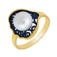 Серебряное кольцо с жемчугом ФЖ51833.1