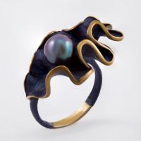 Серебряное кольцо с жемчугом ФЖ51820Я2У