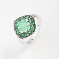 Серебряное кольцо с кварцем плавленым ДПС117953