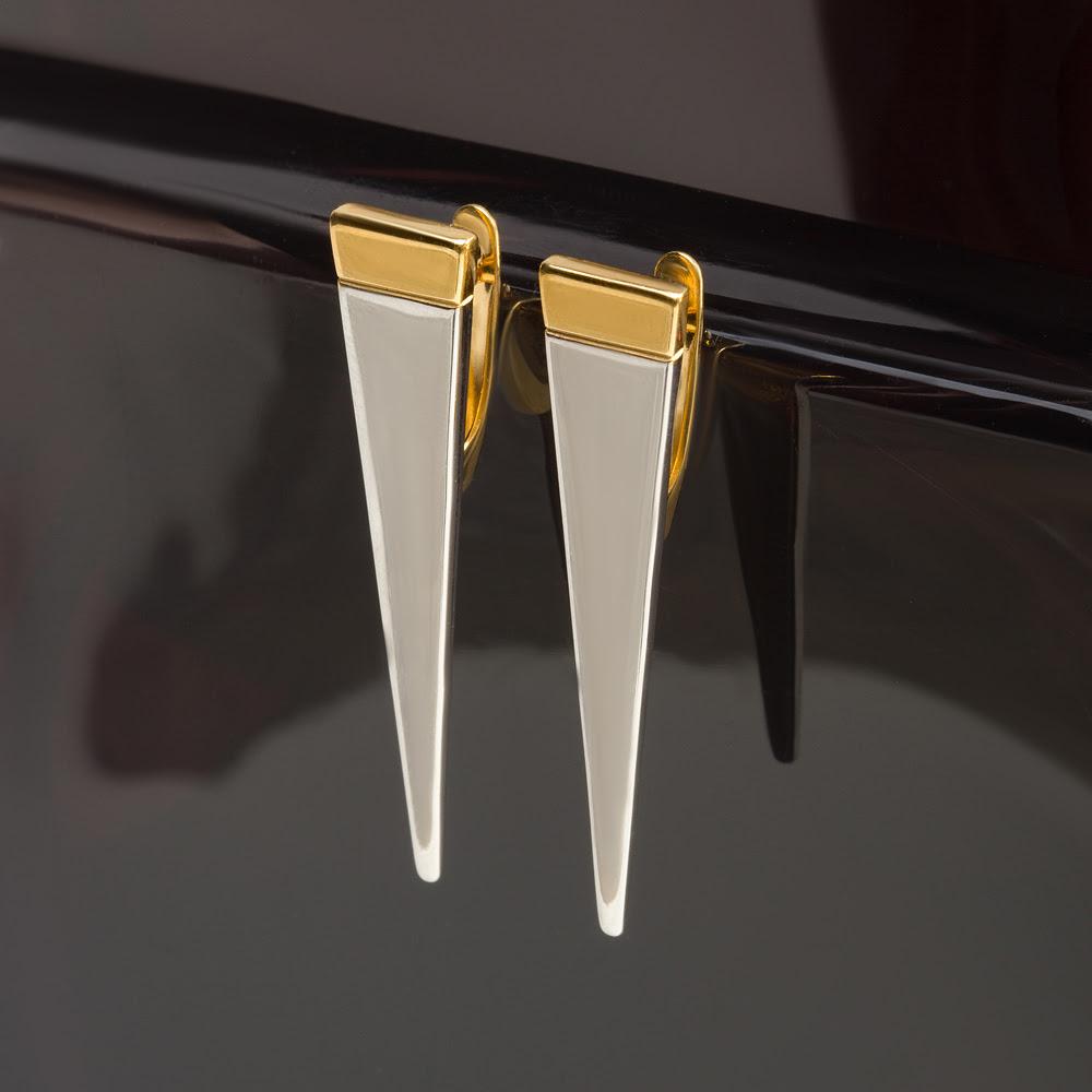 Серебряные серьги ДП221880ПЗЖС