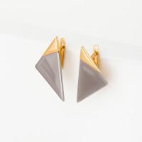 Серебряные серьги ДП221548ПЗЖС без вставок камней
