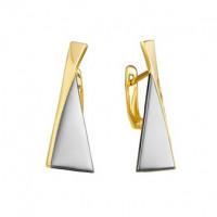 Серебряные серьги ДП221545ПЗЖС