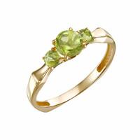 Золотое кольцо с хризолитами ЮИК120-5675хр