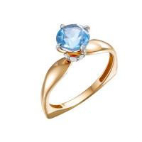 Золотое кольцо с топазами и фианитами ЮИК122-5681т