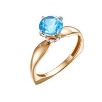 Золотое кольцо с фианитами и топазами свисами ЮИК122-5681ТС