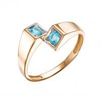 Золотое кольцо с топазами свисами ЮИК122-5677ТС