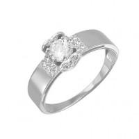 Серебряное кольцо с фианитами ДП114475С