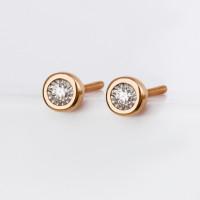 Золотые серьги гвоздики с бриллиантами ЛФЕ01-Д-ИГЕ-10796к