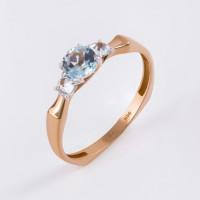 Золотое кольцо с топазами ЮИК122-5675т