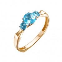 Золотое кольцо с топазами свисами