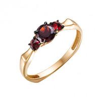 Золотое кольцо с гранатами ЮИК124-5675гр
