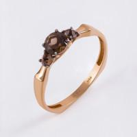 Золотое кольцо с раухтопазами ЮИК124-5675ТР