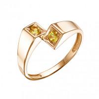 Золотое кольцо с цитринами ЮИК120-5677цт