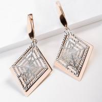 Серебряные серьги подвесные ПЮ386407