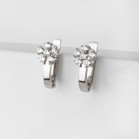 Серебряные серьги детские с фианитами 2ИС120567