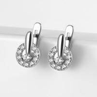 Серебряные серьги детские с фианитами 2ИС120645