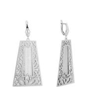 Серебряные серьги подвесные ПЮ381397